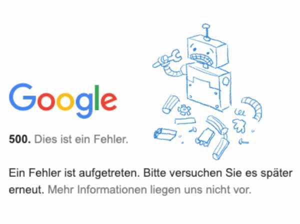 Crash-Anzeige in der Google-Search-Console: Der Suchmaschinengigant kann keine Suchdaten mehr liefern!