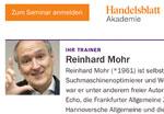 Foto für SEO-Lehrauftrag für Reinhard Mohr an Handelsblatt-Akademie